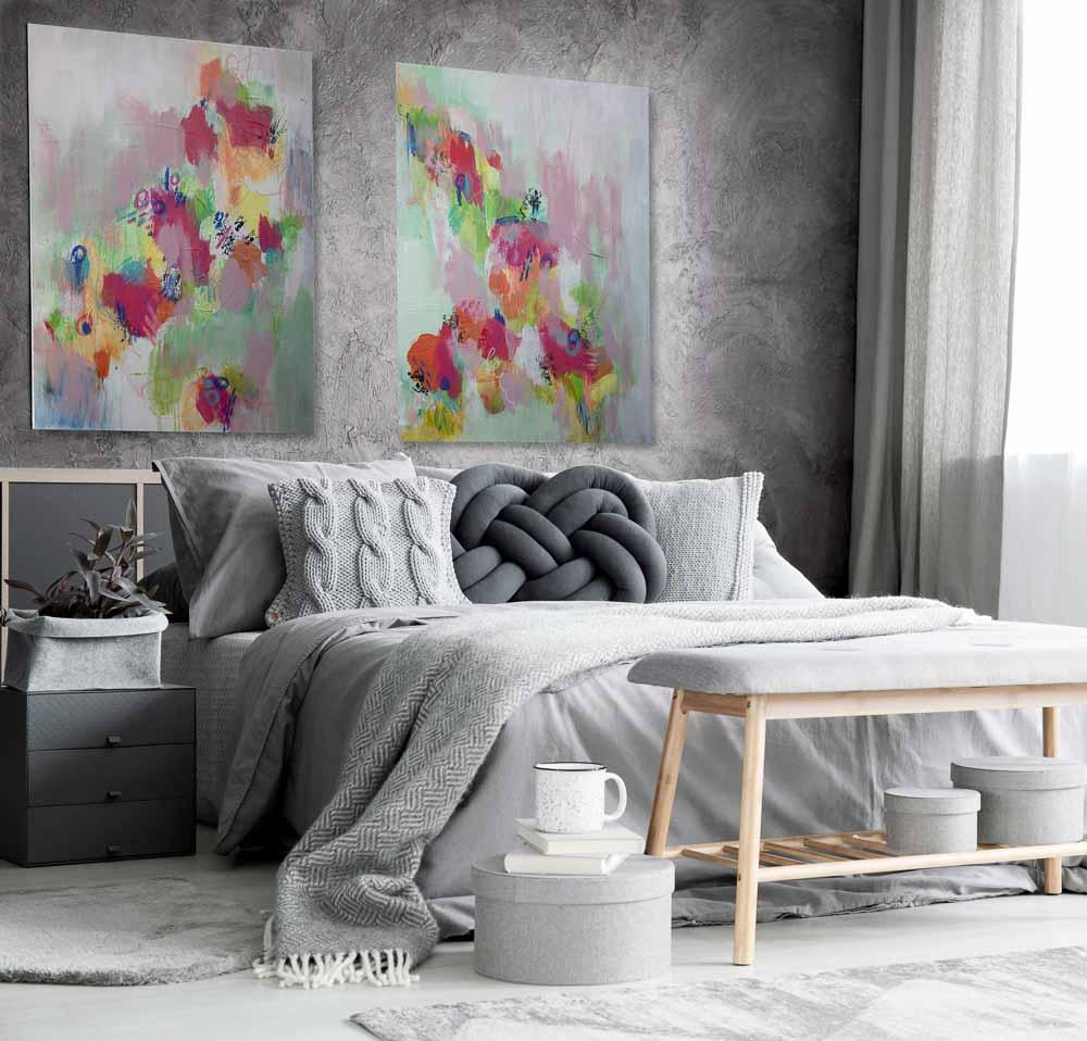 I Want to Break Free Grey Bedroom