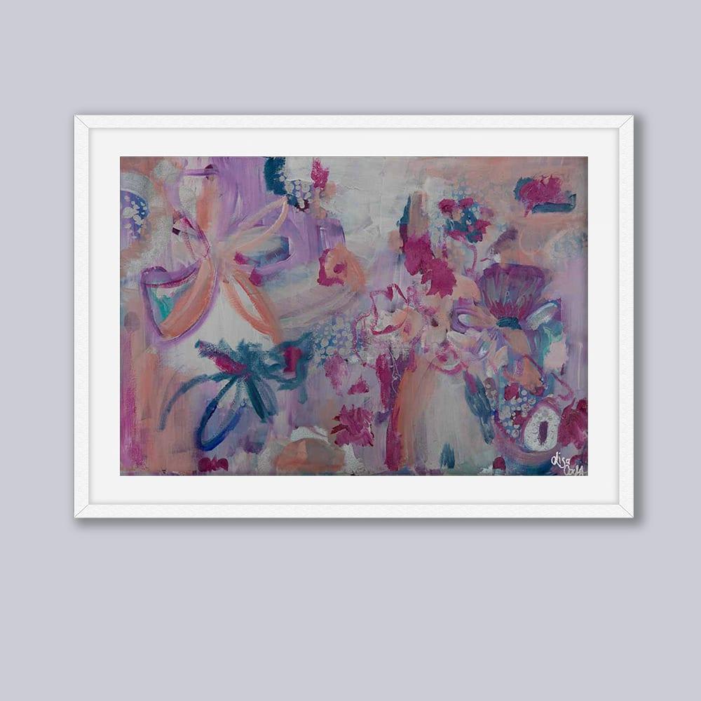 Boysenberry Delight White Frame Grey Background