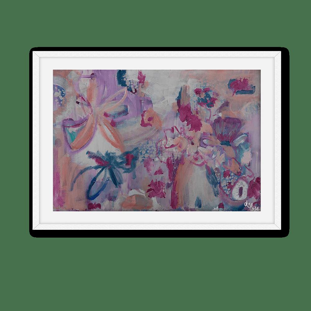 Boysenberry Delight White Frame