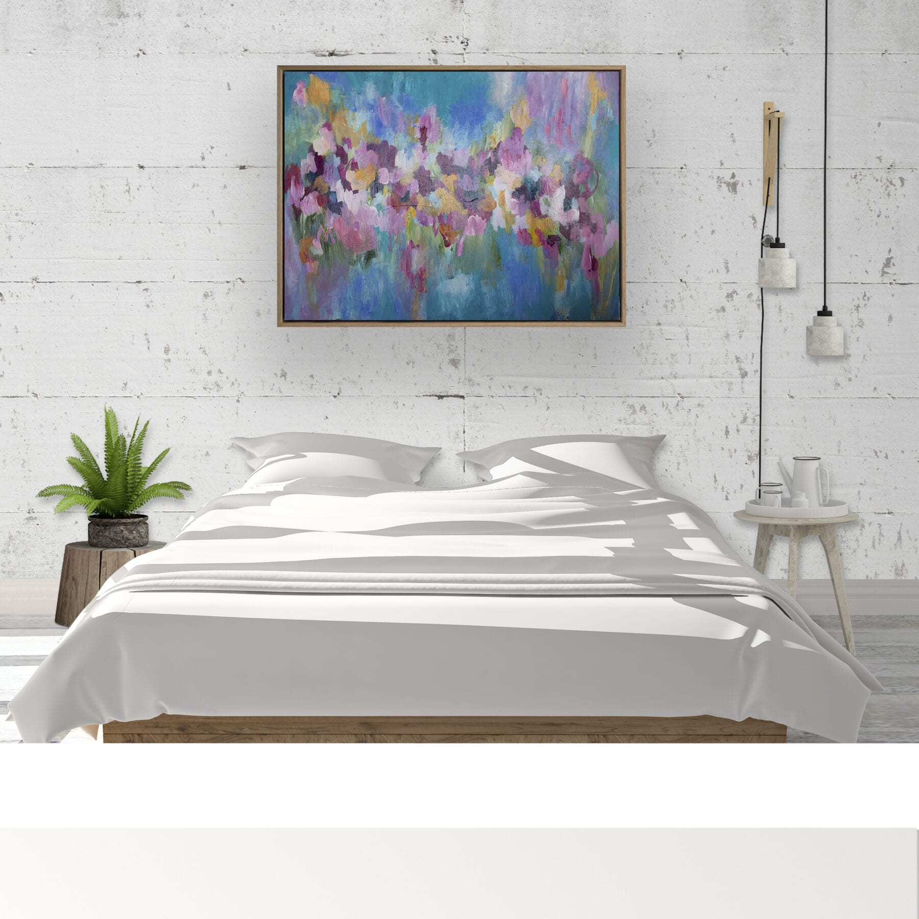 Tomorrow's Promise LifestyleWhite Bed Concrete Wall
